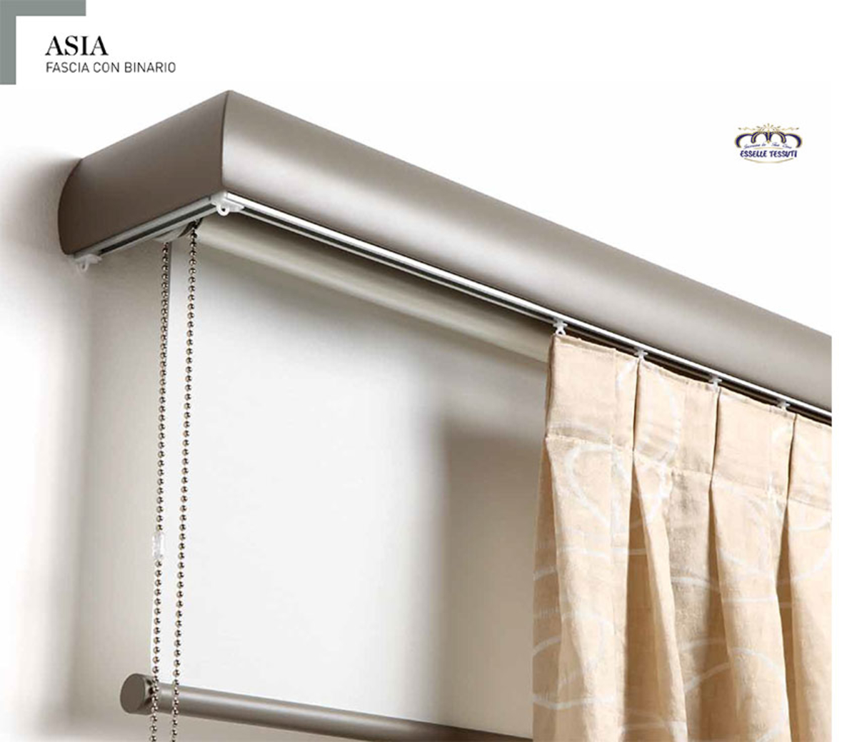 Fascia Copri-sistema e Profilo Binari CA.MA : Asia XL Metallo